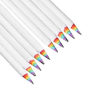 虹色の10x鉛筆 - 白