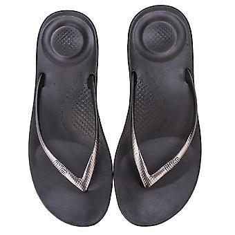 Women&Apos;s Fit Flop iQushion Mirror Ergonomiska flip-flops i grått