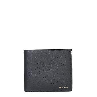 Paul Smith M1a4832emcoal79 Män's svart läderplånbok