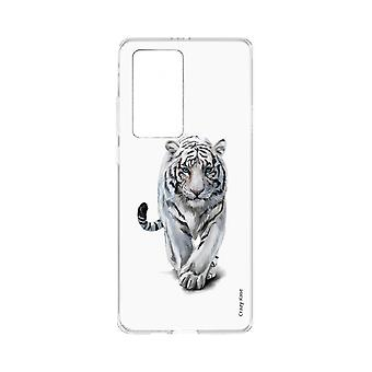 Hull For Huawei P40 Pro Soft White Tiger
