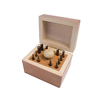 Set Of 12 Stake Tools For Bezel Setting