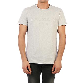 Balmain 01601i3659ub Män's Grey Cotton T-shirt