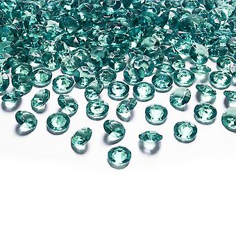 550 Acrylic 6mm Diamante Table Scatter for Weddings and Parties - Jade Green