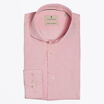Thomas Maine  - Lightweight Linen Shirt - Pink