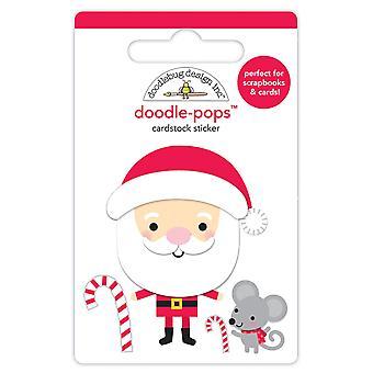 Doodlebug Design Søt Santa Doodle-Pops (4pcs) (6158)