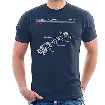 NASA Apollo Soyuz Docking Test Blueprint Men's T-Shirt