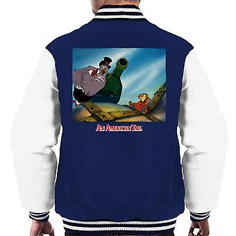 An American Tail Henri Give Fievel Hope Men's Varsity Jacket