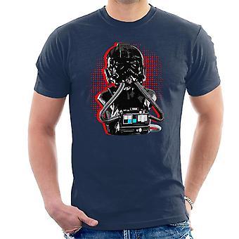 Opprinnelige Stormtrooper Imperial TIE Pilot røde Burst menn t-skjorte