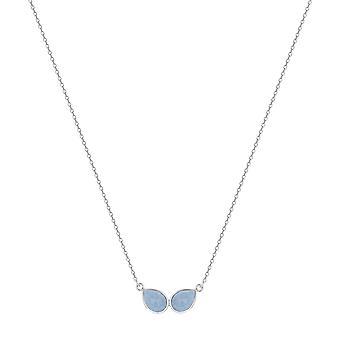 ADEN 925 Collier d'opale bleu argent sterling (id 4530)