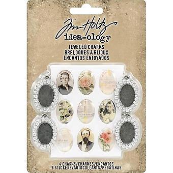 Metsänvartija Tim Holtz Jeweled Charms (4kpl) (TH93697)