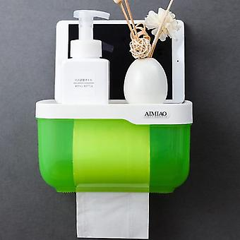 Transparent Design, Wall-mounted, Waterproof Toilet Paper Holder