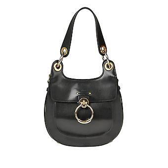 Chloé Ezgl079041 Women's Black Leather Shoulder Bag