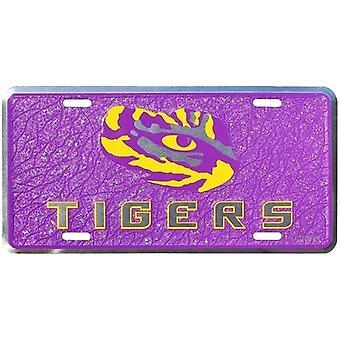 LSU Tigers NCAA Mosaic License Plate