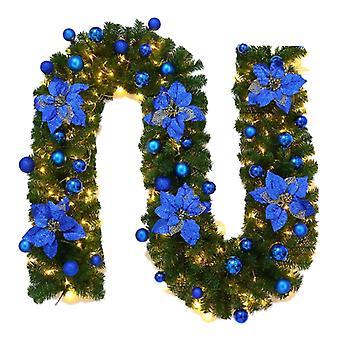 Kerstboom Decor Garland Rattan Blue
