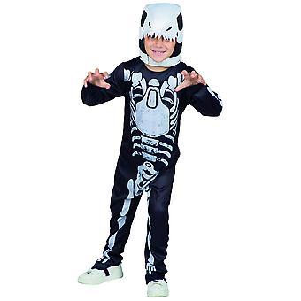 T-Rex Dino Skeleton Kinder Kostüm Dinosaurier Skelett