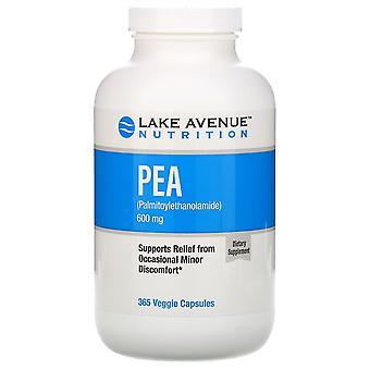 Lake Avenue Nutrition, PEA (Palmitoylethanolamide), 600 mg Per Serving, 365 Vegg