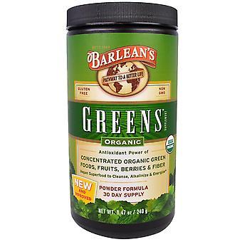 Barlean's, Greens, Powder Formula, Organic 8.47 oz (240 g)