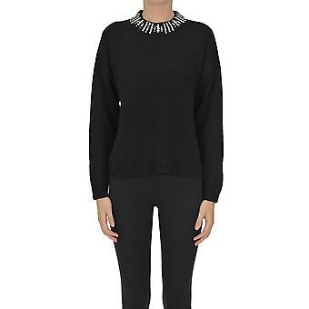 Nenette Ezgl266153 Femme-apos;s Pull en laine noire