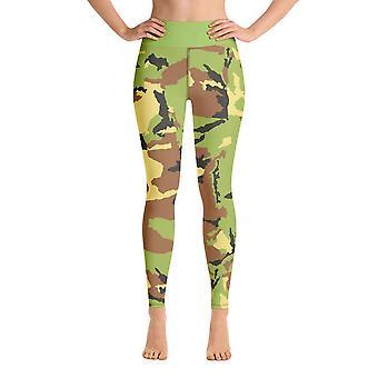 Workout leggings | yoga leggings | light green camouflage