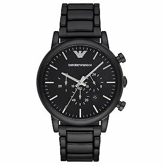 Emporio Armani AR1895 Classic Black Dial Brushed Black Men's Watch