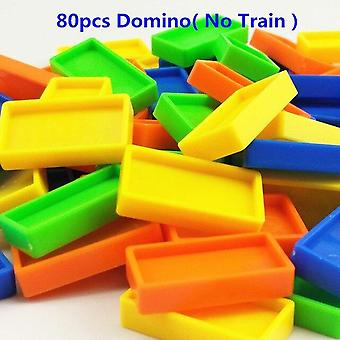 Educational Building Blocks  Toy Gift Put Up The Domino Game Toy Set  Automatic Placement