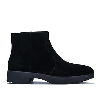 Women's Fit Flop Maria Suede Ankle Boots in Black