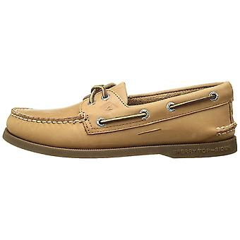 Sperry Mens A/O Leather Round Toe Slip On Shoes