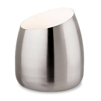 1 lichte tafel, vloerlamp geborsteld staal, GU10