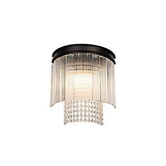 Éclairage Luminosa - Lumière murale, 2 Lumière E14, Oxyde brun