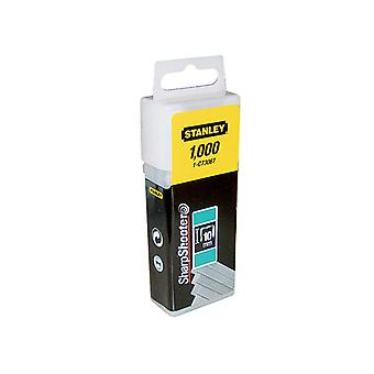 Stanley Tools Flat Narrow Crown Staples 10mm CT306T Pack 1000 STA1CT306T