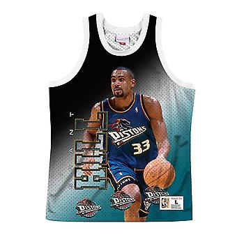 Mitchell & Ness Nba Behind The Back Tank Detroit Pistons Grant Hill MSTKMAI19002DPIWHITGHI basket-ball toute l'année hommes t-shirt