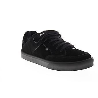 Circa 205 Vulc  Mens Black Suede Skate Inspired Sneakers Shoes