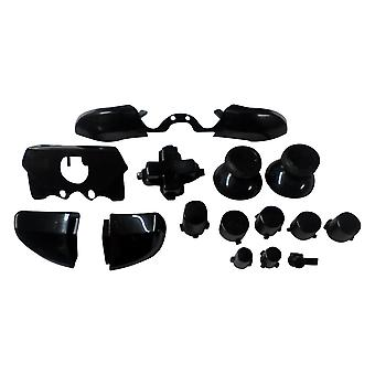 Replacement full button set mod kit for xbox one elite controllers a b x y d-pad triggers - black | zedlabz