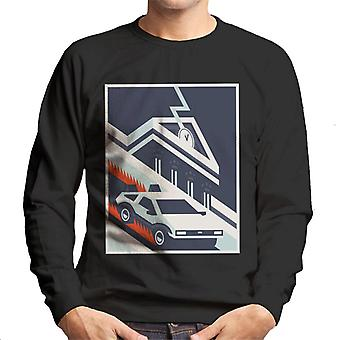 Back to the Future Delorean By Hill Valley Men's Sweatshirt