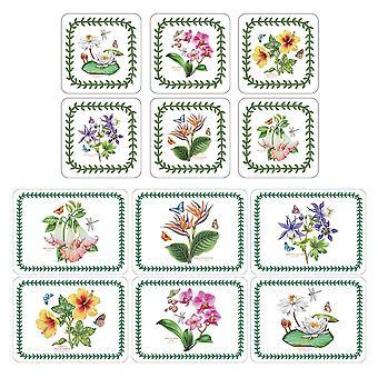 Pimpernel eksoottinen kasvitieteellinen puutarha placemats ja lasinaluset set 6