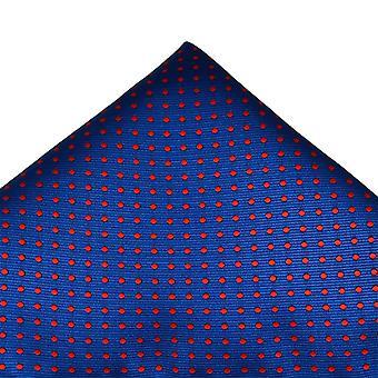 Ties Planet Royal Blue & Red Polka Dot Pocket Square Handkerchief