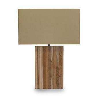 Table lamp Xalapa beige & Wood natural 40 x 56 cm 10940