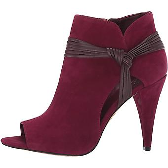 Vince Camuto Women's Shoes Annavay Suede Peep Toe Ankle Fashion Boots