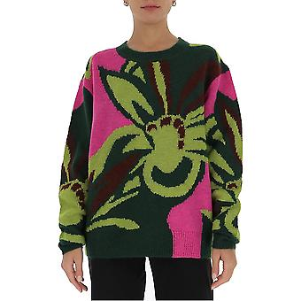 Dries Van Noten 112481718604 Women's Green Wool Sweater