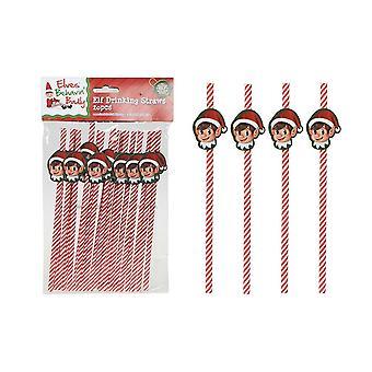 PMS Elf Design Drinking Paper Straws - 20 Pieces