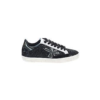 Premiata Stevend4874 Women's Black Leather Sneakers