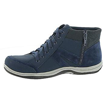 Easy Street Womens Chill Leather Hight Top Zipper Fashion Sneakers