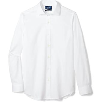 BUTTONED DOWN Men's Maßgeschneiderte Fit Spread-Collar solide Nicht-Eisen Kleid Shirt (Keine...