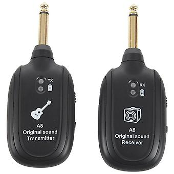 Wireless Transmitter & Receiver Set For Electroacoustic Guitar