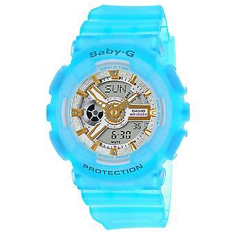 Casio Women's Baby-G White Dial Watch - BA110SC-2A
