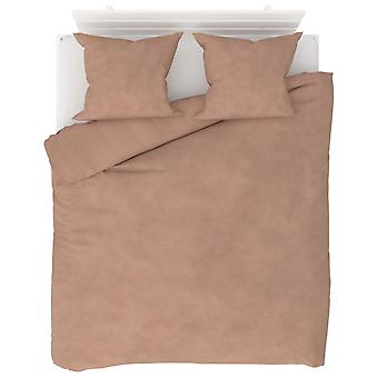 3-tlg. Bettwäsche-Set Fleece Beige 200 x 200 / 60 x 70 cm