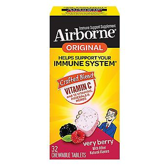 Airborne immune support, chewable tablets, berry, 32 ea