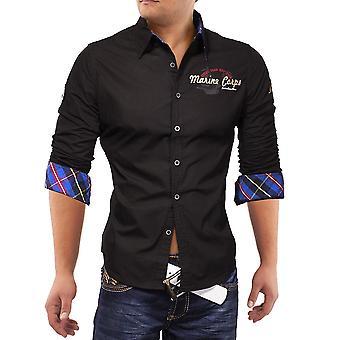Menns lang ermet Polo skjorte Vintage Last Herrenhemd Marine Eagle