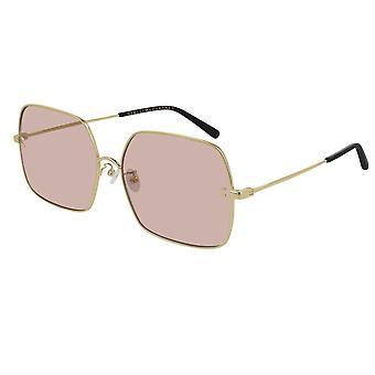 Stella Mccartney Sc0158s 002 61 Essentials Pink And Gold Sunglasses