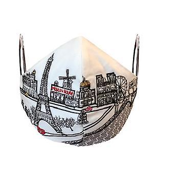 Pariisi kirjailtu taivaanranta muodikas kasvonaamio